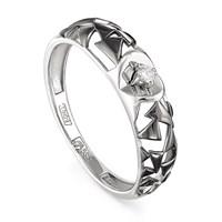 Кольцо из белого золота с бриллиантом - фото 5843