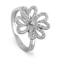 Кольцо из серебра с фианитами - фото 5852