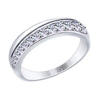 Кольцо из серебра с фианитами - фото 5858